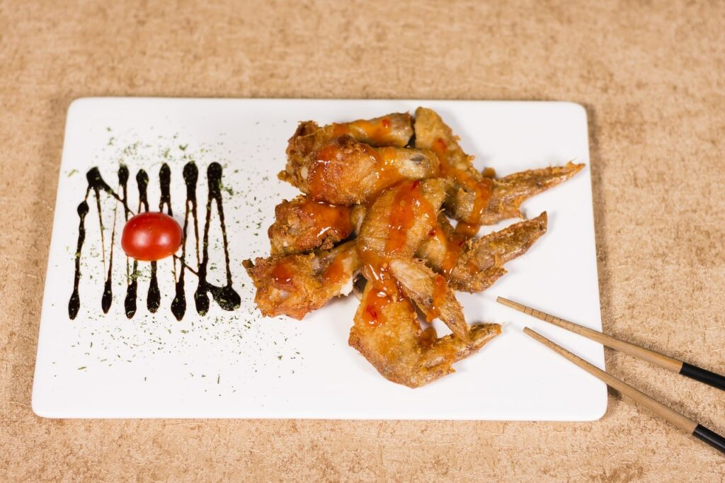manguer avec baguette chinoise