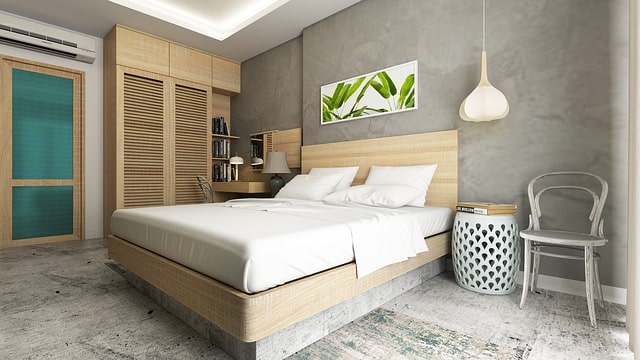 chambre tropical décoration avec tableau